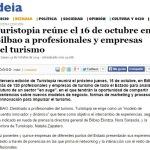 Deia: Turistopia reúne el 16 de octubre en Bilbao a profesionales y empresas del turismo