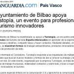 La Vanguardia - El Ayuntamiento de Bilbao apoya Turistopia un evento para profesionales de turismo innovadores