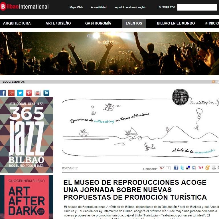 El Museo de Reproducciones Artísticas de Bilbao acoge una jornada dedicada a nuevas propuestas de promoción turística, bajo el título 'Turistopía – Trabajando por un sector ideal'